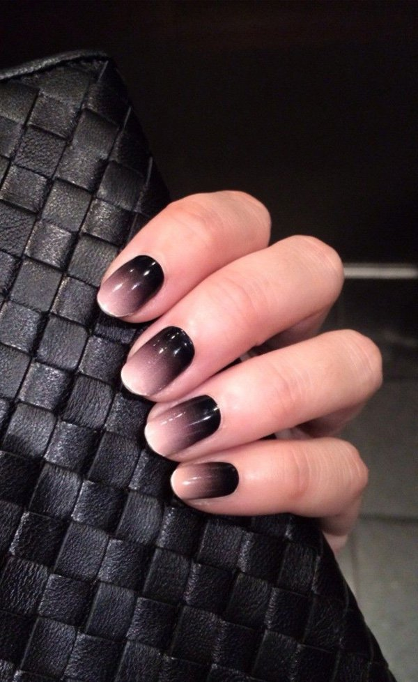 Black Gradient Nail Design