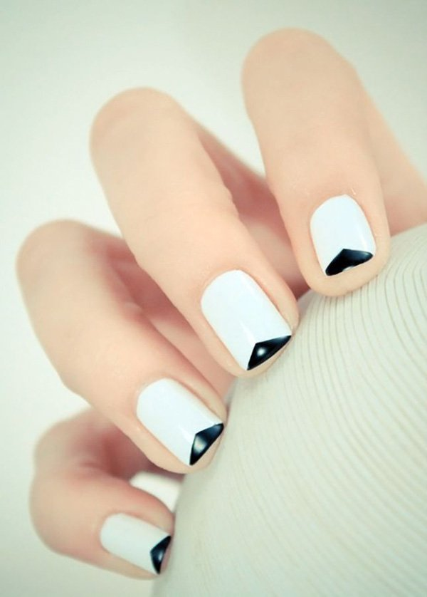 Black and White French Manicure Idea