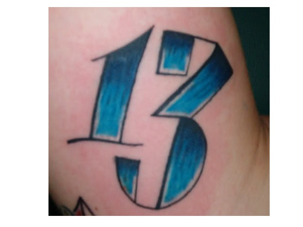 Blue 13 Tattoo