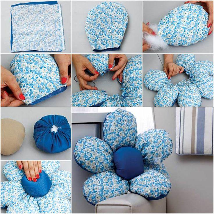 Blue Floral Cushions