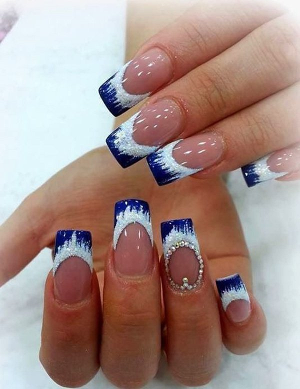 Icy Blue Nail Design