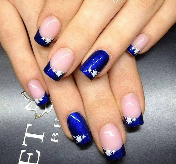 35 pretty nail designs for 2016 pretty designs blue french tip nail design prinsesfo Gallery
