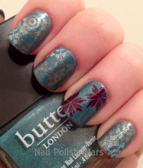 Blue Nails with Maples