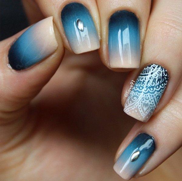 29 Adorable Blue Nail Designs for 2019 - Pretty Designs