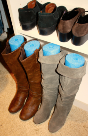 Boot Organization - Pool Noodles