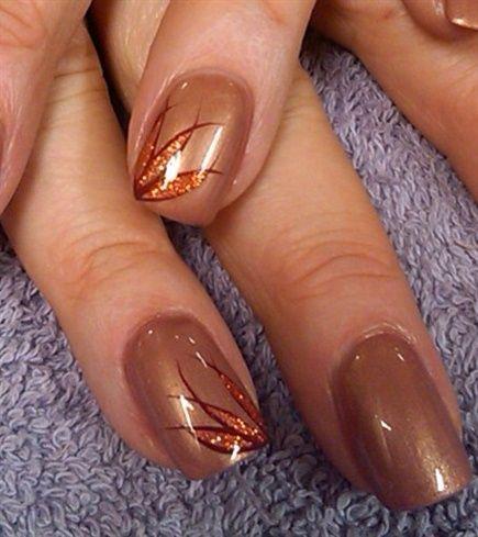 Bronze Nail Art