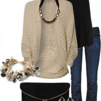 Bude Cardigan with Black Top