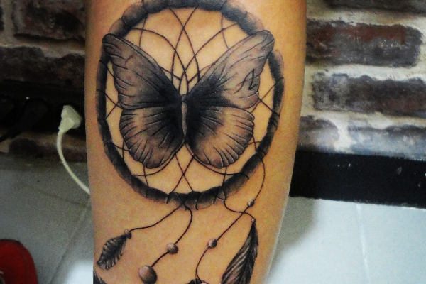 Butterfly Dream Catcher Tattoo Design