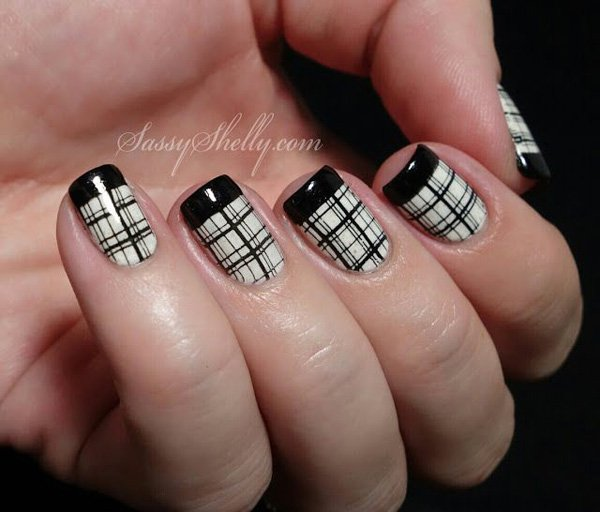 Classic Plaid Nail Design
