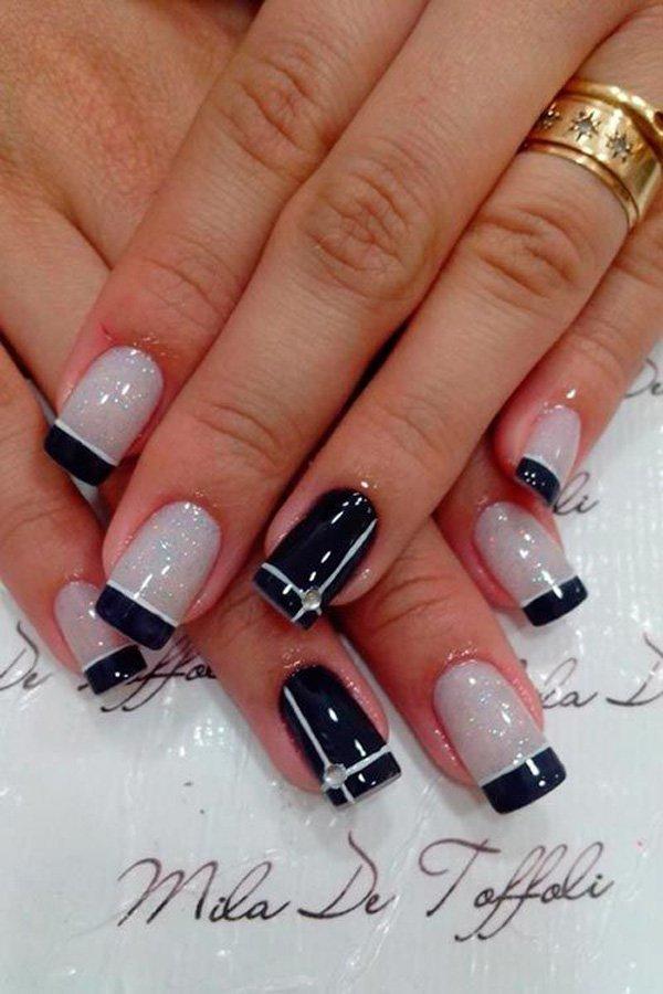 Classy French Manicure Idea