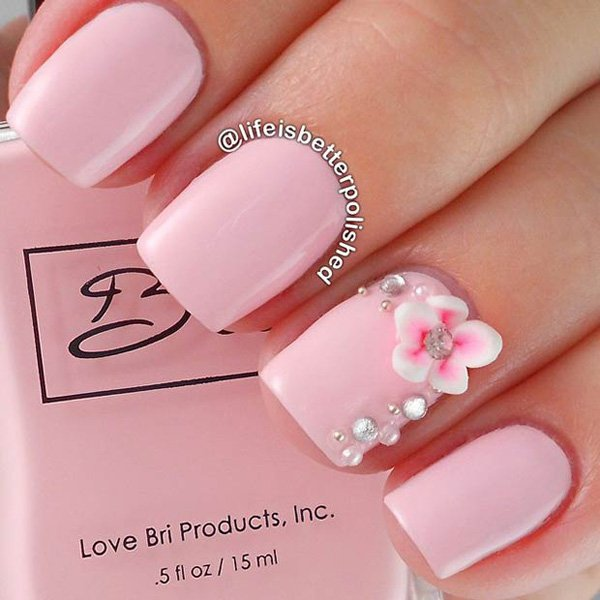 Classy Matte Pink Nails - 25 Cute Pink Nail Designs For 2016 - Pretty Designs