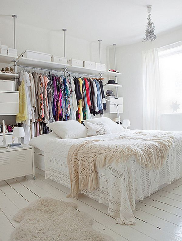 Clever Ideas For Small Bedrooms Part - 27: Clever Closet Idea