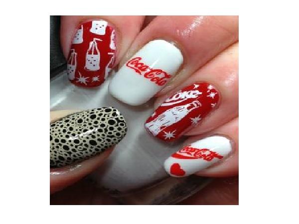 Coca Cola Nail Design