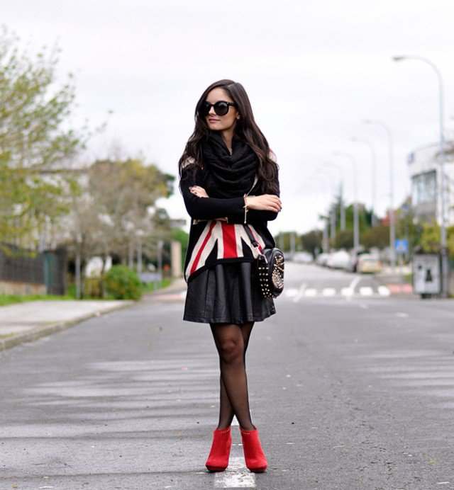 Cool Black UK Flag Outfit