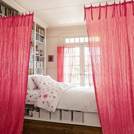 20 fantastic ideas for room dividers pretty designs - Room divider curtain ideas ...