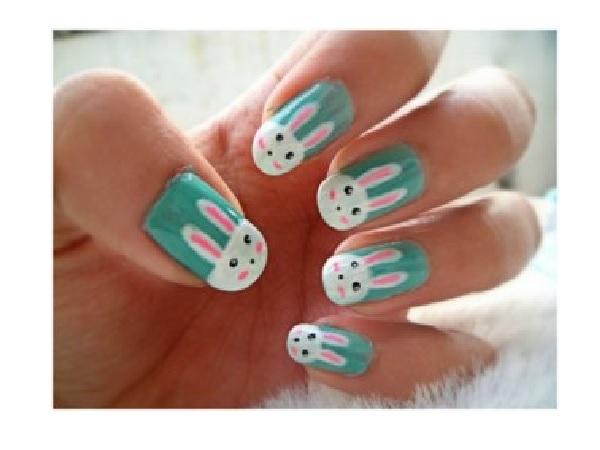 Cute Bunny Nail Design