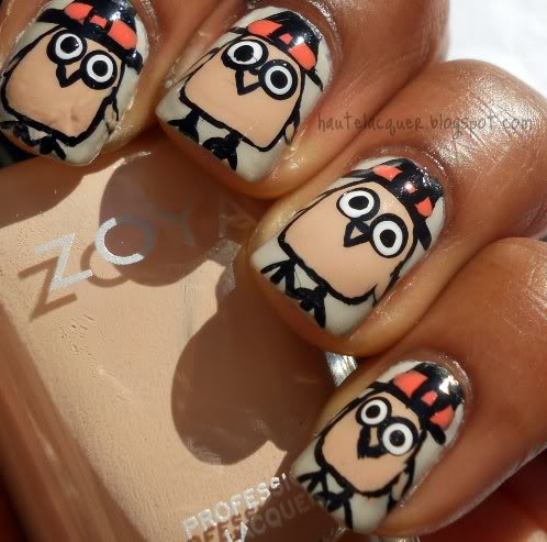 Catoon-Inspired Nail Design