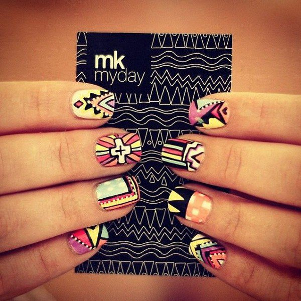 Cute Tribal Nail Design