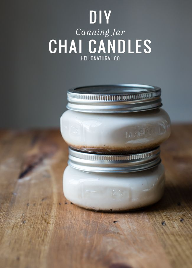 DIY Chai-spiced Fall Candle