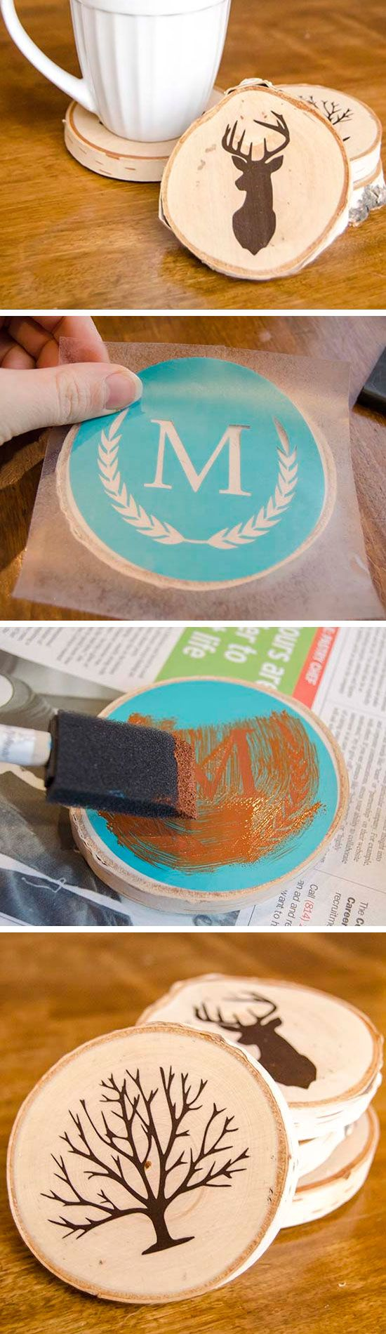 15 diy projects to have coasters pretty designs for Homemade coaster ideas