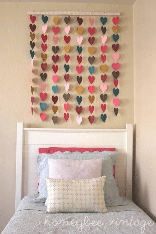 DIY Paper Heart Heart Wall Art