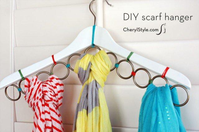 DIY Scarf Hanger Tutorial