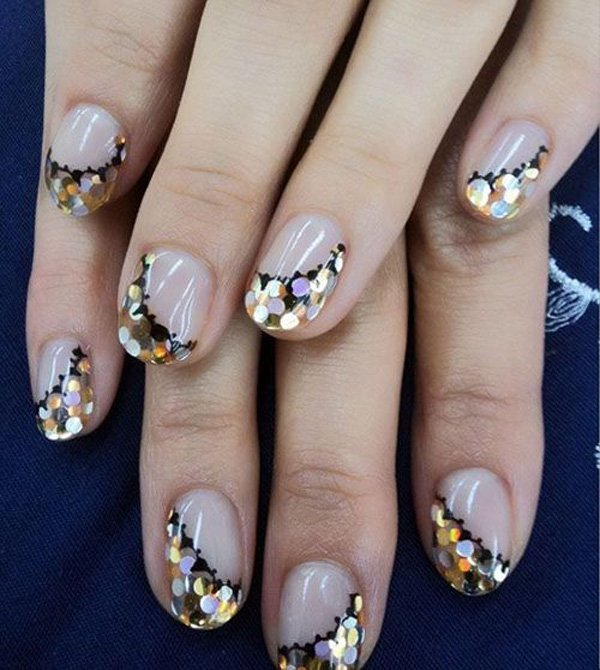 35 Amazing Glitter Nail Designs voor 2019