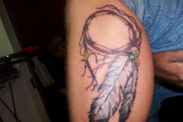 Dream Catcher Arm Tattoo Design