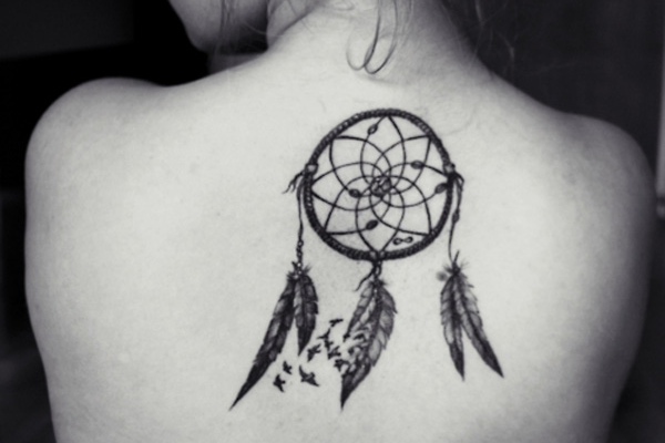 Dream Catcher Shoulder Tattoo Design