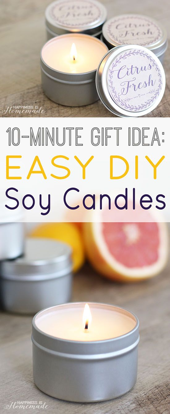 Easy Diy Soy Candles