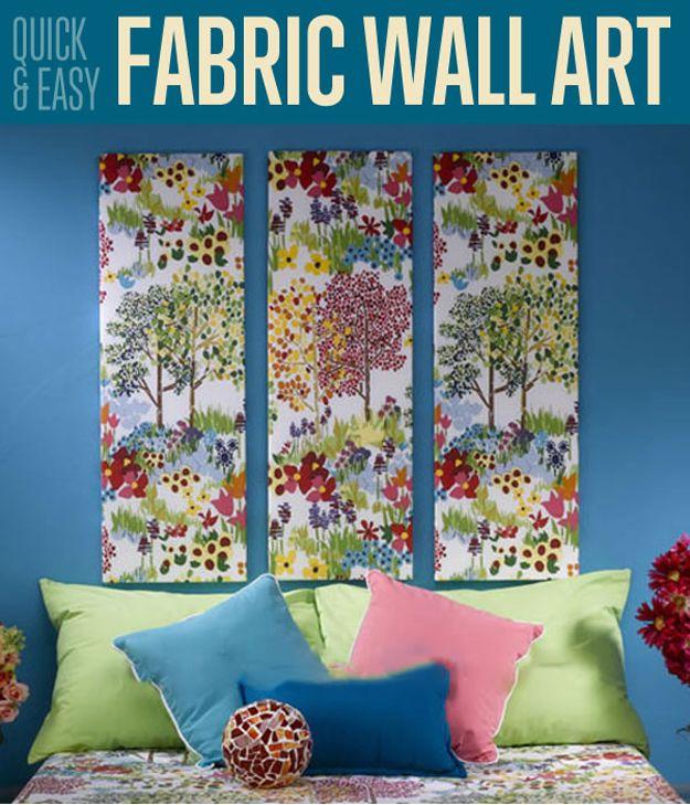 Easy Fabric Wall Art