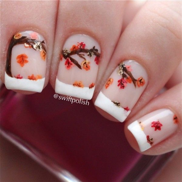 Fall French Tip Nail Design