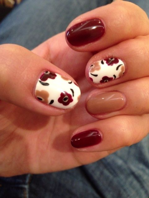 Floral Nails for Autumn