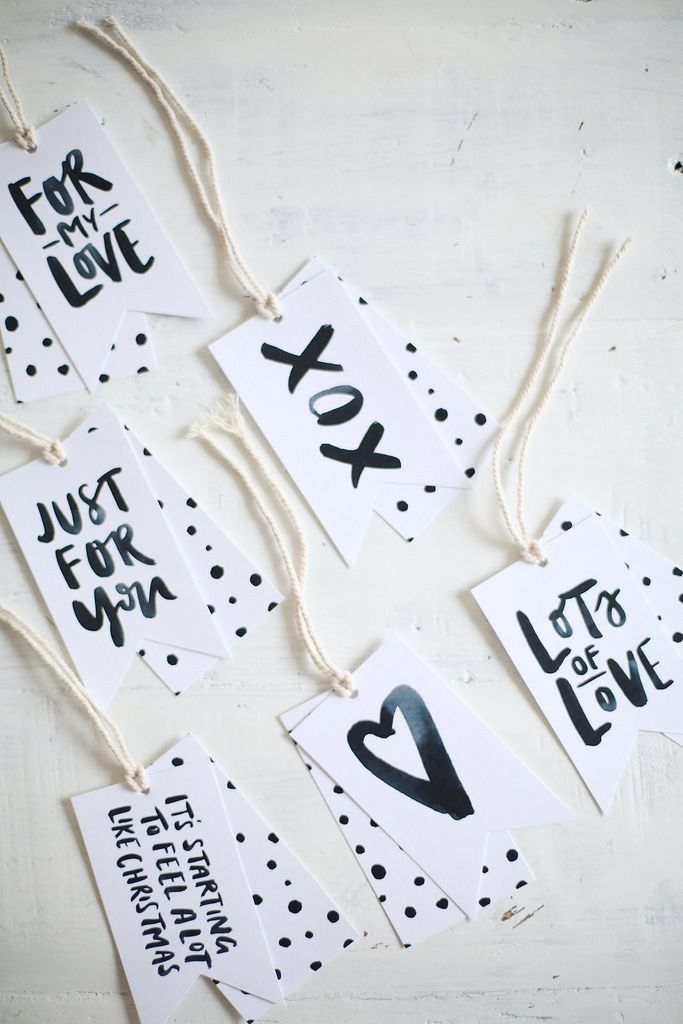 20 Ideas To Make Gift Tags Pretty Designs