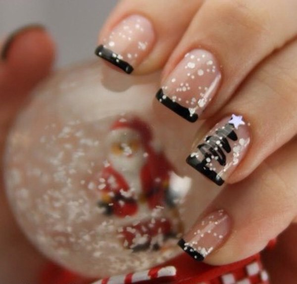 French Manicure Idea For Christmas