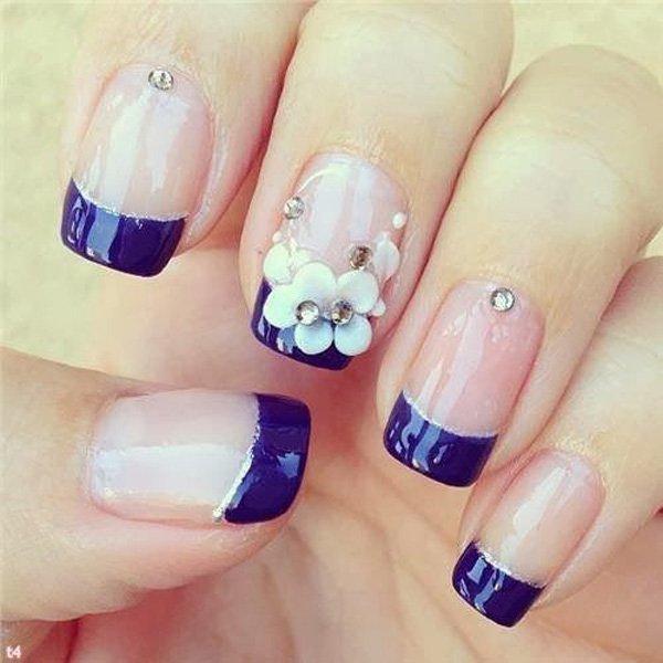 Glamorous Blue Nail Design