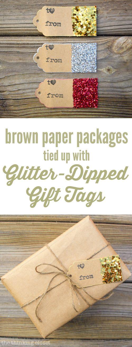 20 Ideas to Make Gift Tags - Pretty Designs