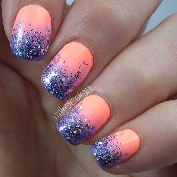 Glitter Tipped Nail Design