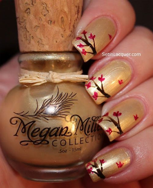 Golden Fall Nails