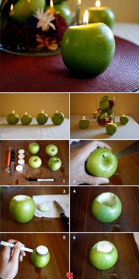 Green Apple Candle Holders