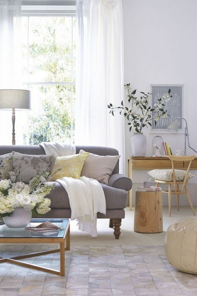 Grey Sofa with Pillows