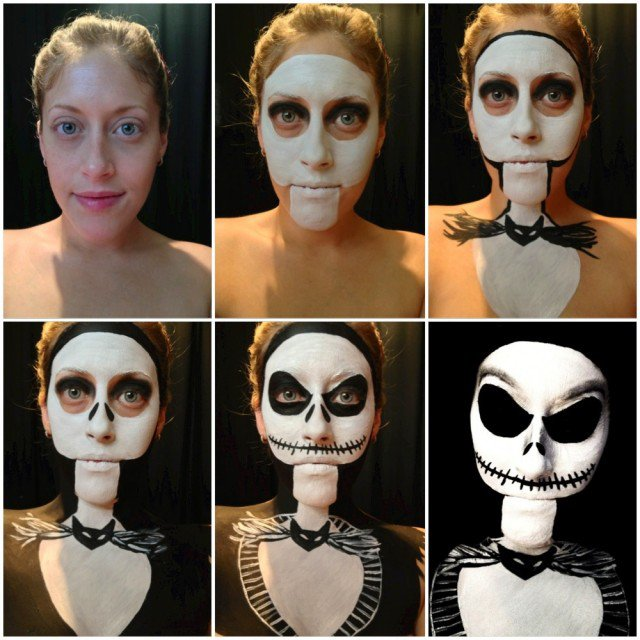 17 Inspirational Halloween Makeup Ideas  Pretty Designs - Skeleton Halloween Makeup