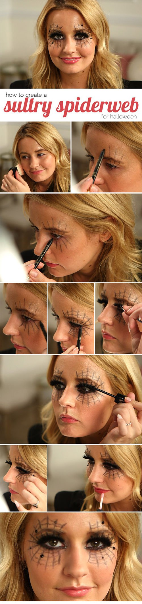 Halloween Spiderweb Makeup Tutorial