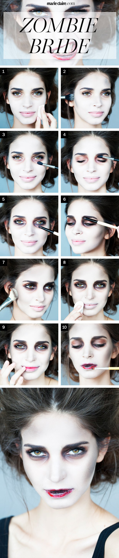 Halloween Zombie Bride Makeup Tutorial