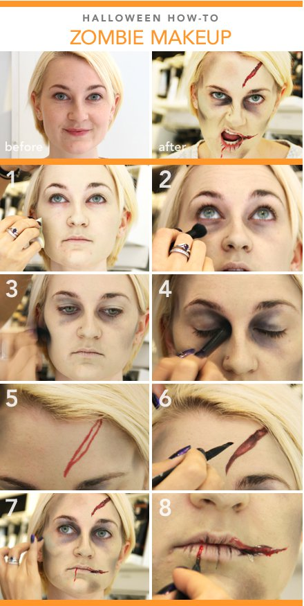 Halloween Zombie Makeup Tutorial