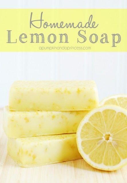 Homemade Lemon Soap