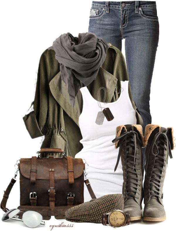 Khaki Blazer with Skinny Jeans