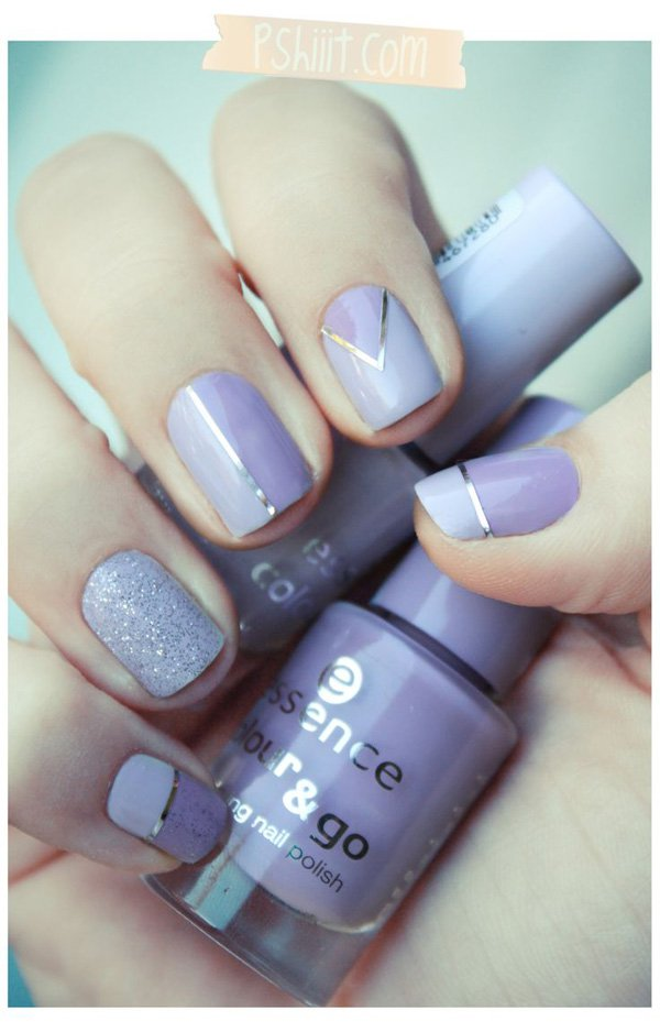 Lavender Metallic Nail Design - 40 Best Metallic Nail Designs For 2018 - Nail Art Ideas - Pretty Designs