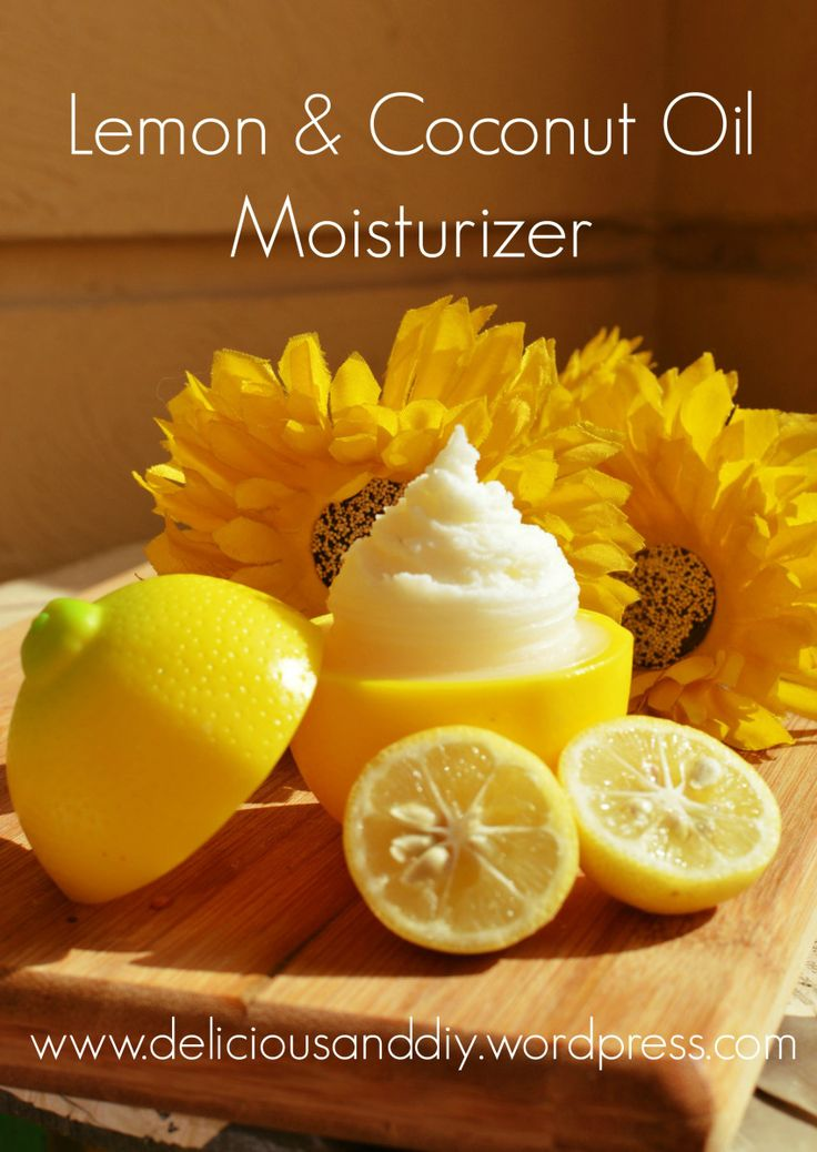 Lemon Coconut Oil Moisturizer