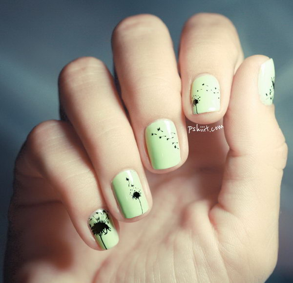 20 Simple Dandelion Nail Designs For 2016 Pretty Designs